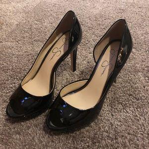 Jessica Simpson Black Patent D'orsay pumps